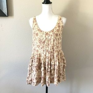 Free People Intimately Tiered Boho Floral Tank Top